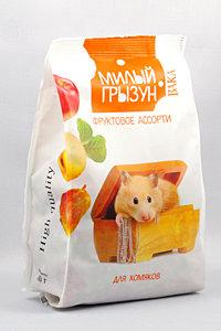 """Вака High Quality """"Милый грызун"""" фруктовое ассорти для хомяков, 200г"""