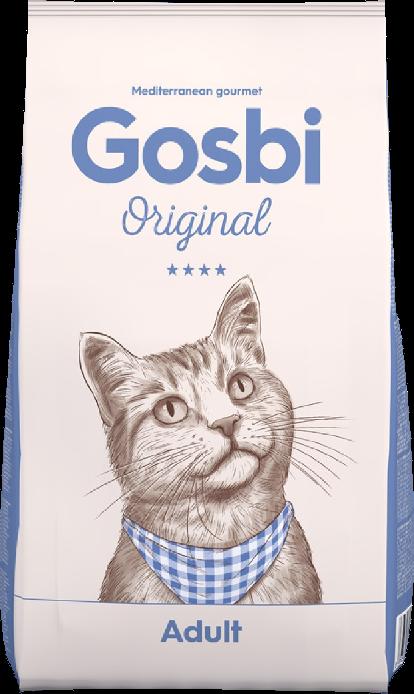 """GOSBI ORIGINAL CAT ADALT СУПЕР ПРЕМИУМ Госби для взрослых кошек Курица с Лососем.  Цены уточняйте по тел. 8(920) 603-23-23 или ждем Вас в наших зоомагазинах """"Умка"""""""
