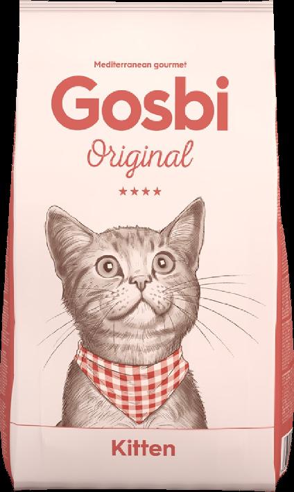 """GOSBI ORIGINAL CAT KITTEN для КОТЯТ Супер премиум Курица с Лососем. Цены уточняйте по тел. 8(920) 603-23-23 или ждем Вас в наших зоомагазинах """"Умка"""""""