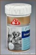 8 в 1 Бреверс Витамины с пивными дрожжами для кошек и собак (8 in 1 Excel Brewers Yeast), банка 260 таб.