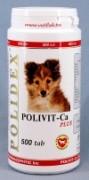 Полидекс Поливит – Кальций плюс (Polidex Polivit – Ca plus), банка 500 таб. Комплекс витаминов, микроэлементов, макроэлементов и аминокислот специально разработанный для щенков, беременных и кормящих сук способствующий улучшению и стабилизации роста костной ткани и фосфорно-кальциевого обмена
