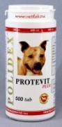 Полидекс Протевит плюс (Polidex Protevit plus), банка 500 таб. Стимулирует рост мышечной массы собаки, активизирует выработку ферментов, участвующих в обмене веществ, укрепляет иммунитет, сокращает фазу отдыха после нагрузок Рекомендуется добавлять в ежедневный рацион растущим щенкам, собакам в период выставок, соревнований для улучшения кондиции.