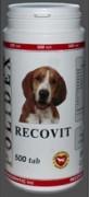 Полидекс Рековит (Polidex Recovit), банка 500 таб. Усиленный комплекс витаминов, макро- и микроэлементов, иммуномодулятора подобранный  для восстановления организма собаки после заболеваний, операций, травм, а также истощенных животных
