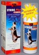 Страйд Плюс для кошек, фл. 150 мл. Хондропротектор для кошек в виде сиропе, состав глюкозамин, МСМ, хондроитин, гиалуроновая кислота.