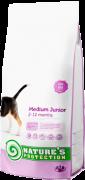 NATURE'S PROTECTION Medium Junior Для щенков средних пород  от 2 до 12 месяцев