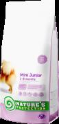 NATURE'S PROTECTION Mini Junior Для растущих собак и щенков мелких пород (вес собаки: 1-10 кг) 2−8 месяцев
