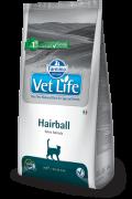 Farmina Vet Life Hairball  Полнорационное питание для взрослых кошек, способствует выведению шерстяных комочков из ЖКТ