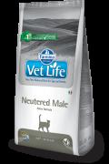 Farmina Vet Life Neutered Male  Полнорационное и сбалансированное питание для кастрированных котов