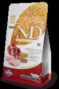 Farmina Низкозерновой N&D Low Grain Cat Chicken & Pomegranate Фармина Курица с гранатом – полнорационный низкозерновой корм для взрослых кошек