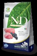 Farmina Беззерновой N&D Lamb & Blueberry Adult  Ягненок, черника. Полнорационный корм для взрослых собак всех пород