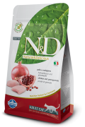 Farmina Беззерновой N&D Cat Chicken & Pomegranate Adult. Фармина Курица с гранатом - полнорационный беззерновой корм для взрослых кошек