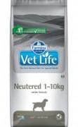 Farmina Vet Life Neutered 1-10kg полнорационное и сбалансированное питание для взрослых кастрированных или стерилизованных собак весом до 10 кг для контроля веса и профилактики развития мочекаменной болезни