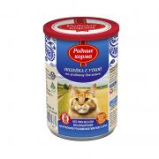 РОДНЫЕ КОРМА Индейка с уткой по-уездному с профилактикой МКБ конс. 410 г для кошек