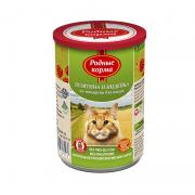 РОДНЫЕ КОРМА Телятина и индейка по-пожарски с профилактикой МКБ конс. 410 г для кошек