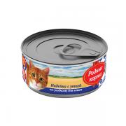 РОДЫЕ КОРМА Консервы для кошек «индейка с уткой по-уездному», с профилактикой МКБ, 100 гр