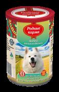 РОДНЫЕ КОРМА Жареха мясная по - двински конс. для собак