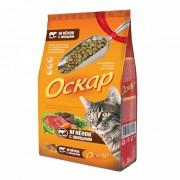 Оскар сухой корм для кошек с мясом ягненка и овощами