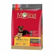 Полнорационный Гипоаллергенный корм для всех пород  с Ягненком MOLINA «Adult Lamb & Rice»
