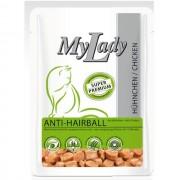 Dr. ALDER`S MyLаdy Super Premiym Anti-Hairball контроль вывода шерсти из ЖКТ Курица кусочки в соусе ПАУЧ 85 гр страна - Германия