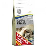 Bozita Feline Funktion™ Indoor & Steralised со шведским куриным мясом подходит для взрослых, домашних и стерилизованных кошек, а также кошек с избыточным весом