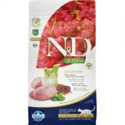 Farmina Беззерновой N&D Cat Quinoa Digestion Lamb  Ягненок, киноа, фенхель и мята. Поддержка пищеварения. Полнорационный сухой корм для взрослых кошек