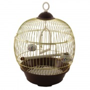 Клетка для птиц круглая, золото, d230*365мм