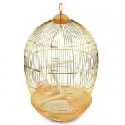 Клетка для птиц круглая, большая, золото, d480*765мм