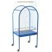 Клетка для птиц, эмаль, бело-синяя, 780*600*1560мм