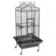 Клетка для птиц, эмаль, черная, 820*770*1560мм
