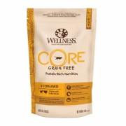 Wellness Core Sterilised беззерновой сухой корм Холистик для кастрированных котов и кошек, курица с индейкой