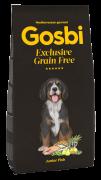 GOSBI GRAIN FREE JUNIOR FISH БЕЗЗЕРНОВОЙ корм холистик с рыбой для щенков средних и крупных пород / Средиземноморская диета / ГИПОАЛЛЕРГЕННЫЙ (Испания)
