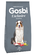 GOSBI EXCLUSIVE DIET MEDIUM НИЗКОЗЕРНОВОЙ корм для взрослых собак средних и крупных пород, склонных к избыточному весу (Испания)