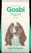 Gosbi Original Light & Senior - Полностью сбалансированный корм для пожилых и собак с лишним весом (Испания)