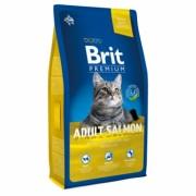 BRIT Premium Cat Adult Salmon Полнорационный корм премиум-класса взрослых кошек. С лососем в соусе.
