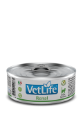 Farmina Vet Life Renal – полнорационный диетический влажный корм для кошек, разработанный для поддержания функции почек при почечной недостаточности. Диета содержит низкое количество фосфора и ограниченное количество белка