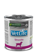 Farmina Vet Life Struvite – полнорационный диетический влажный корм для собак для лечения и профилактики рецидивов струвитного уролитиаза. Растворение и подавление образования струвитных уролитов.