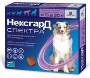 Фронтлайн нексгард спектра таблетки жевательные для собак 15-30кг №3 (Merial, Франция)