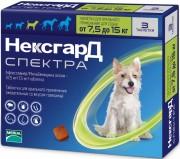 Фронтлайн нексгард спектра таблетки жевательные для собак 7.5-15кг №3 (Merial, Франция)