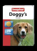 Beaphar Doggy's + Liver 75 табл. Витаминизированное лакомство со вкусом печени для собак. Может быть использовано как поощрение
