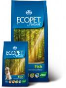 Farmina Ecopet natural fish mini - Полнорационный, сбалансированный корм для взрослых собак мелких пород с рыбой для Чувствительного пищеварения